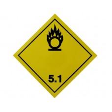 Eticheta ADR Autocolanta Pericol Transport Substante Comburante Carburanti Clasa 5.1, 300x300mm ( 30x30cm )