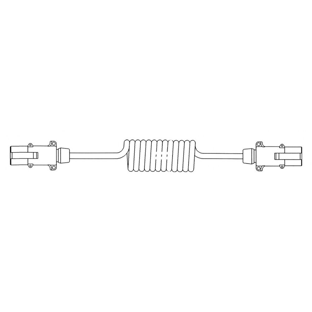 Cablu Electric Spiralat, Tip N 7/24V, 7 Pini Tip Mama, Feminin, 4.5m, Din Aluminiu, JAEGER
