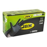 Manusi de protectie negre, de unica folosinta, nitril, marimea L, Cutie 100 bucati, JBM
