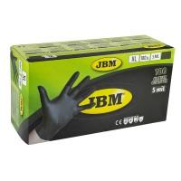 Manusi de protectie negre, de unica folosinta, nitril, marimea XL, Cutie 100 bucati, JBM