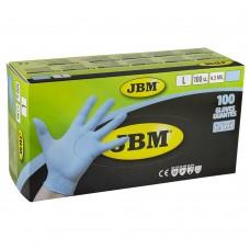 Manusi de protectie albastre, de unica folosinta, nitril, marimea L, Cutie 100 bucati, JBM