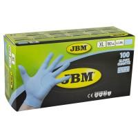 Manusi de protectie albastre, de unica folosinta, nitril, marimea XL, Cutie 100 bucati, JBM