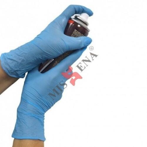 Manusi de protectie albastre, de unica folosinta, nitril, marimea XS, Cutie 100 bucati, Missena 25G