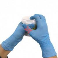 Manusi de protectie albastre, de unica folosinta, nitril, marimea XS, Cutie 100 bucati, Missena 35G
