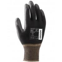 Manusi de Lucru Negre, pt protectia muncii, din nylon cu palma de poliuretan, Pure Touch, Set 2 bucati