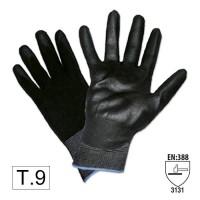 Manusi de Lucru Negre, pt protectia muncii, din nylon cu palma de poliuretan, Set 2 bucati, JBM, Marimea 10, XL